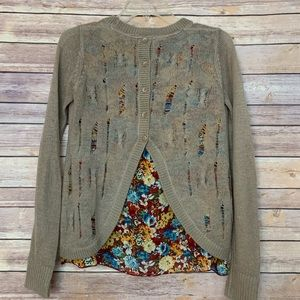Luv 4 Anouka Sweaters - Luv 4 Anouka Layered Distressed sweater floral